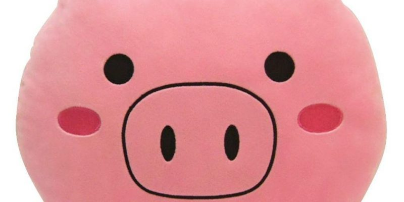 Подушка в виде мордочки свиньи